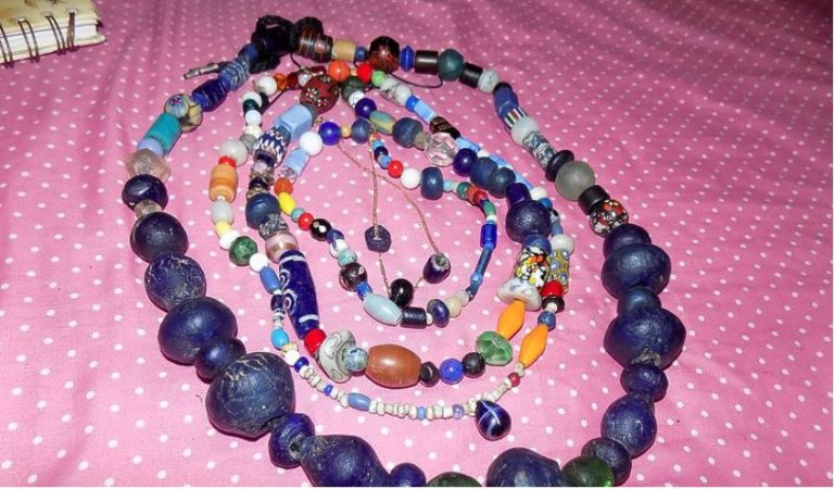 The Magnificent blue beads of St. Eustatius