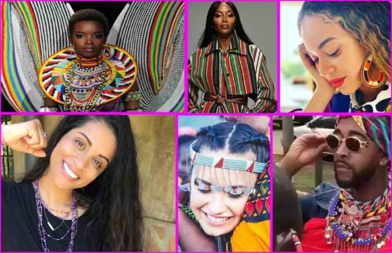 Six American celebrities who've rocked Maasai prints